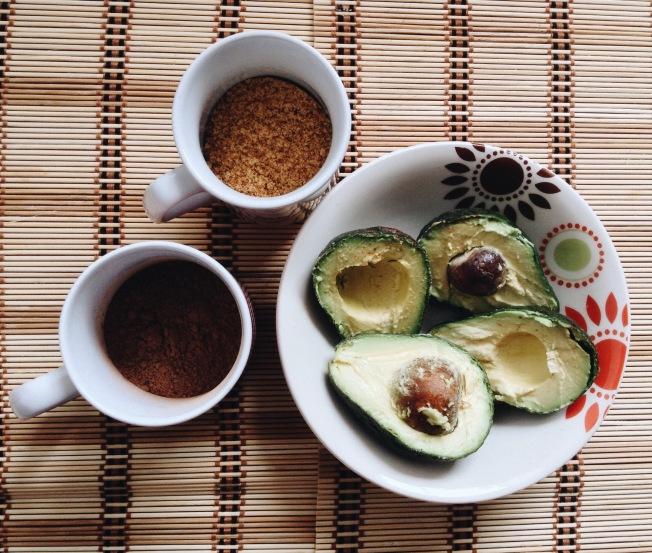 tres de los ingredientes del mousse