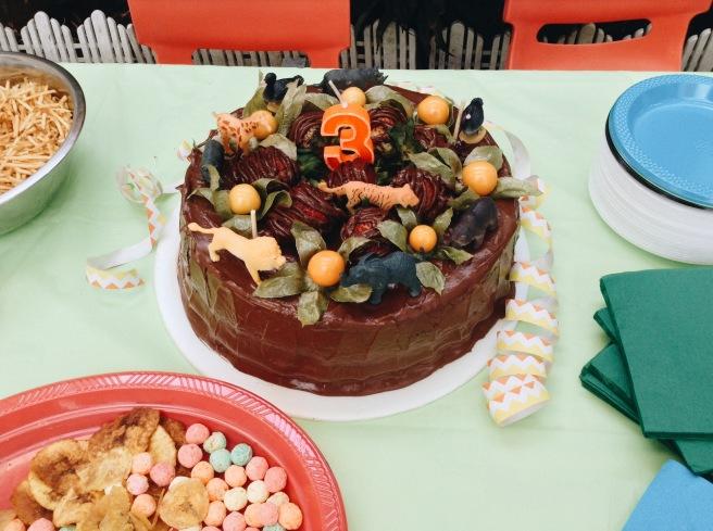 la torta del cumpleaños