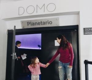 Después de la proyección en el Planetario