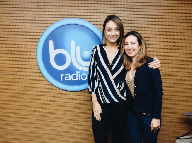 Con la periodista Mónica Jaramillo